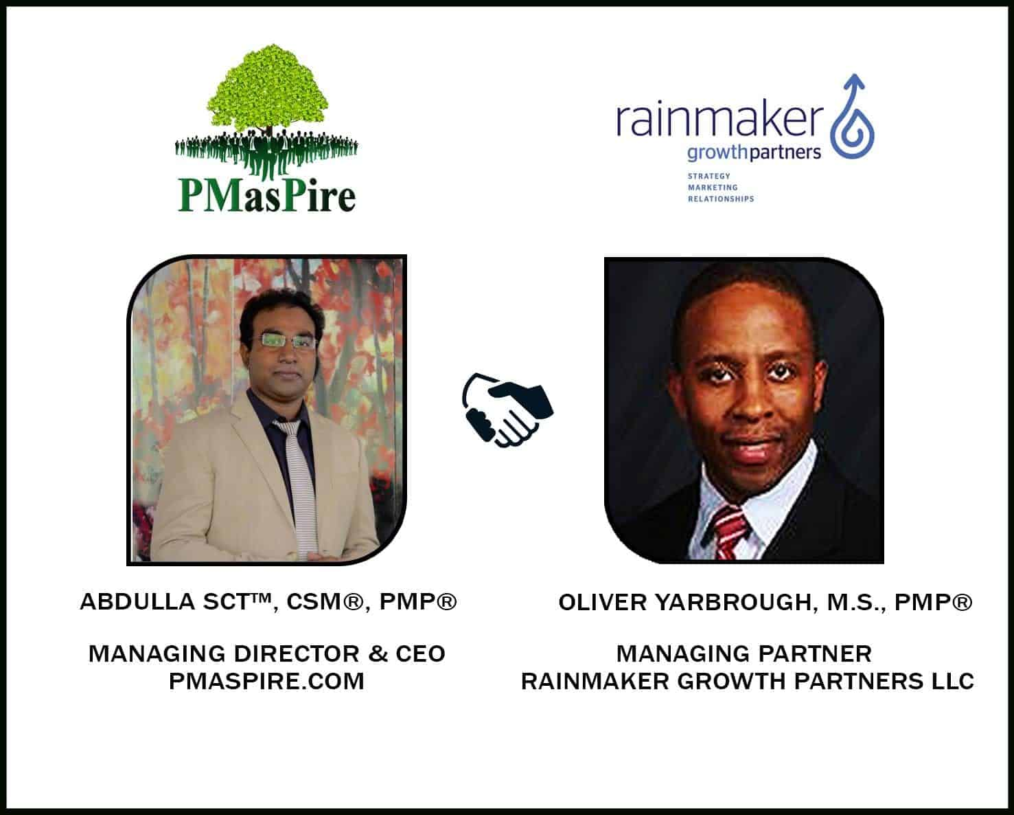 PMASPIRE.COM signed with RAINMAKER GROWTH PARTNERS, LLC for US Market