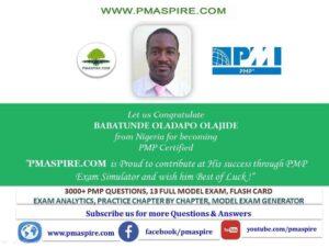 Babtunde PMP #pmaspire