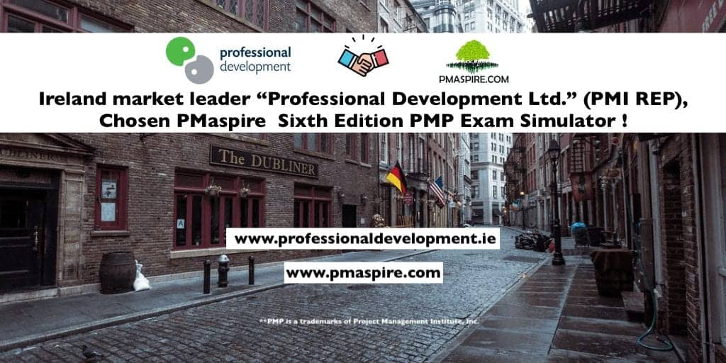 Ireland market leader Professional Development Ltd. (PMI REP), Chosen PMaspire Sixth Edition PMP® Exam Simulator