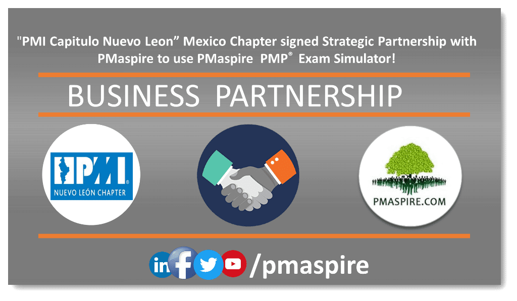 "PMI Capitulo Nuevo Leon"" the Mexican Chapter signed with PMaspire for PMP® Exam Simulator!"