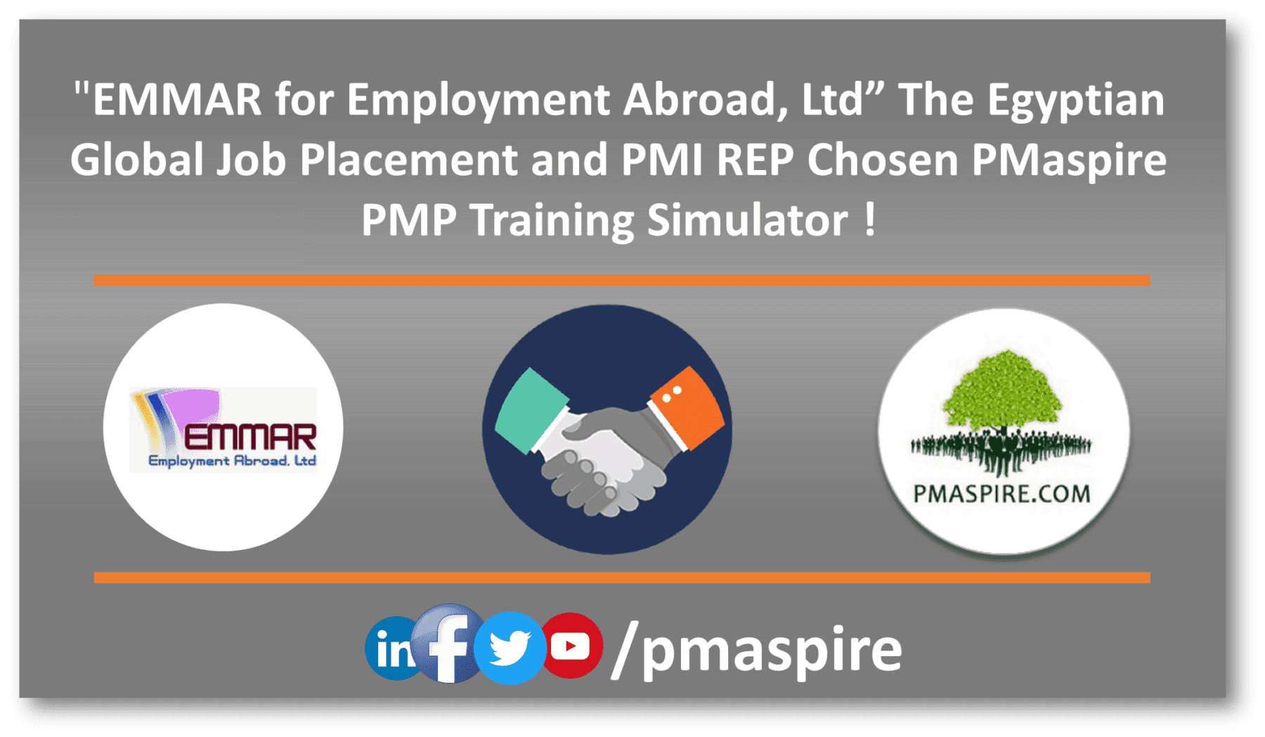 EMMAR for Employment, Egypt Signed up for PMaspire Training Simulator
