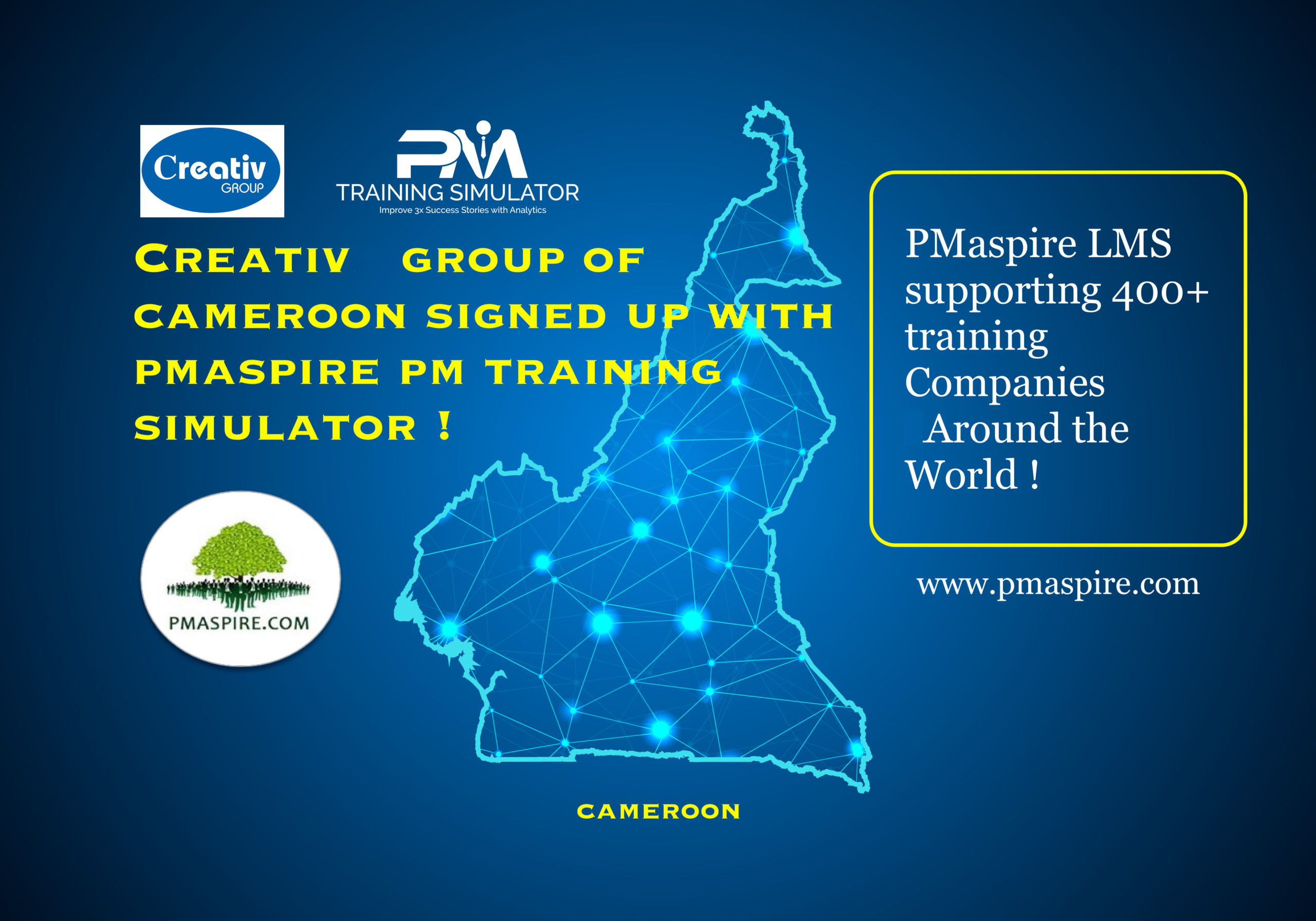 Creativ Group of Cameroon Signed Up with PMaspire